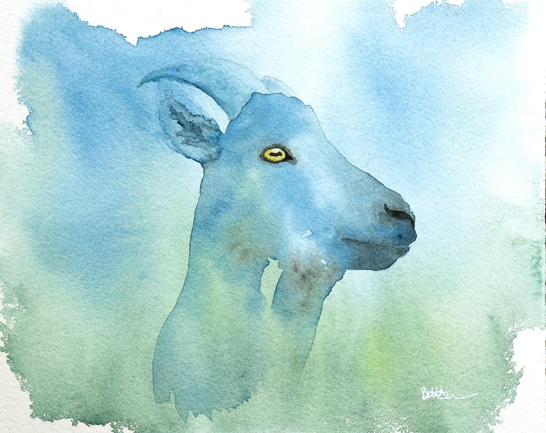 goat watercolour